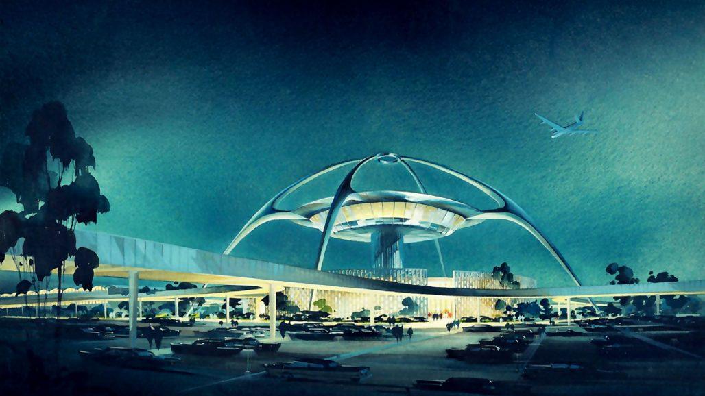 Theme Building I googiestil på Los Angeles International Airport