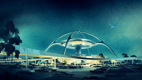 Theme Building I googiestil på Los Angeles International Airport