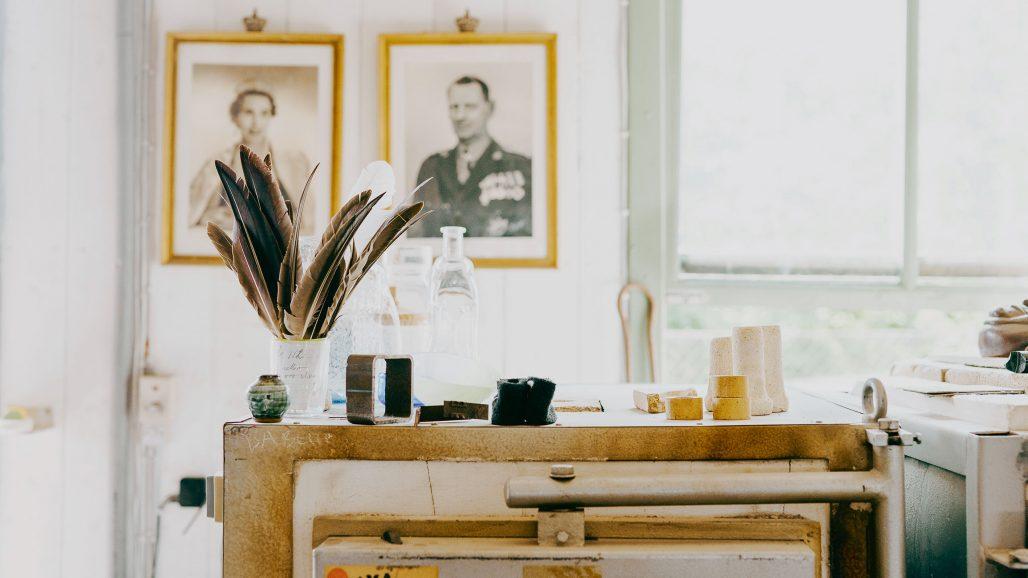 blaehr vase i verkstaden