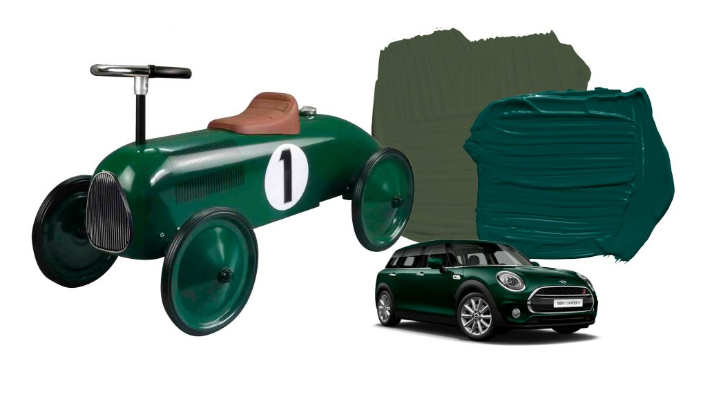 Varianter av British racing green