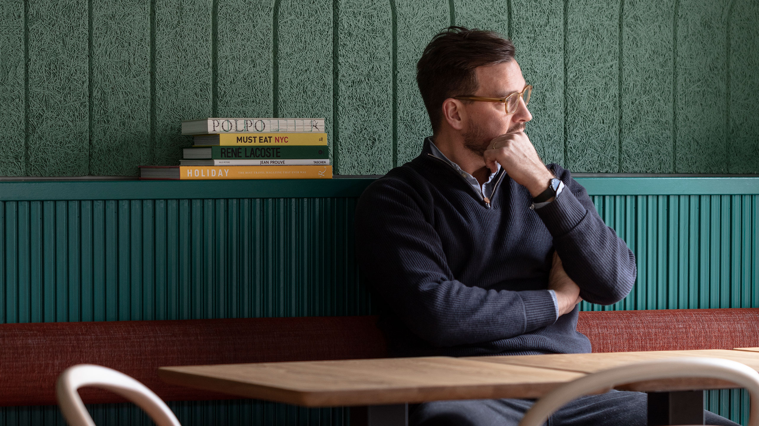 Staffan Holm har designat interiören på restaurangen Pils