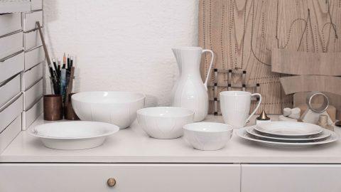 Servisen Pli Blanc av Färg & Blanche för Rörstrand
