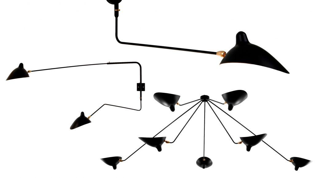 Lampan Spider i olika utföranden