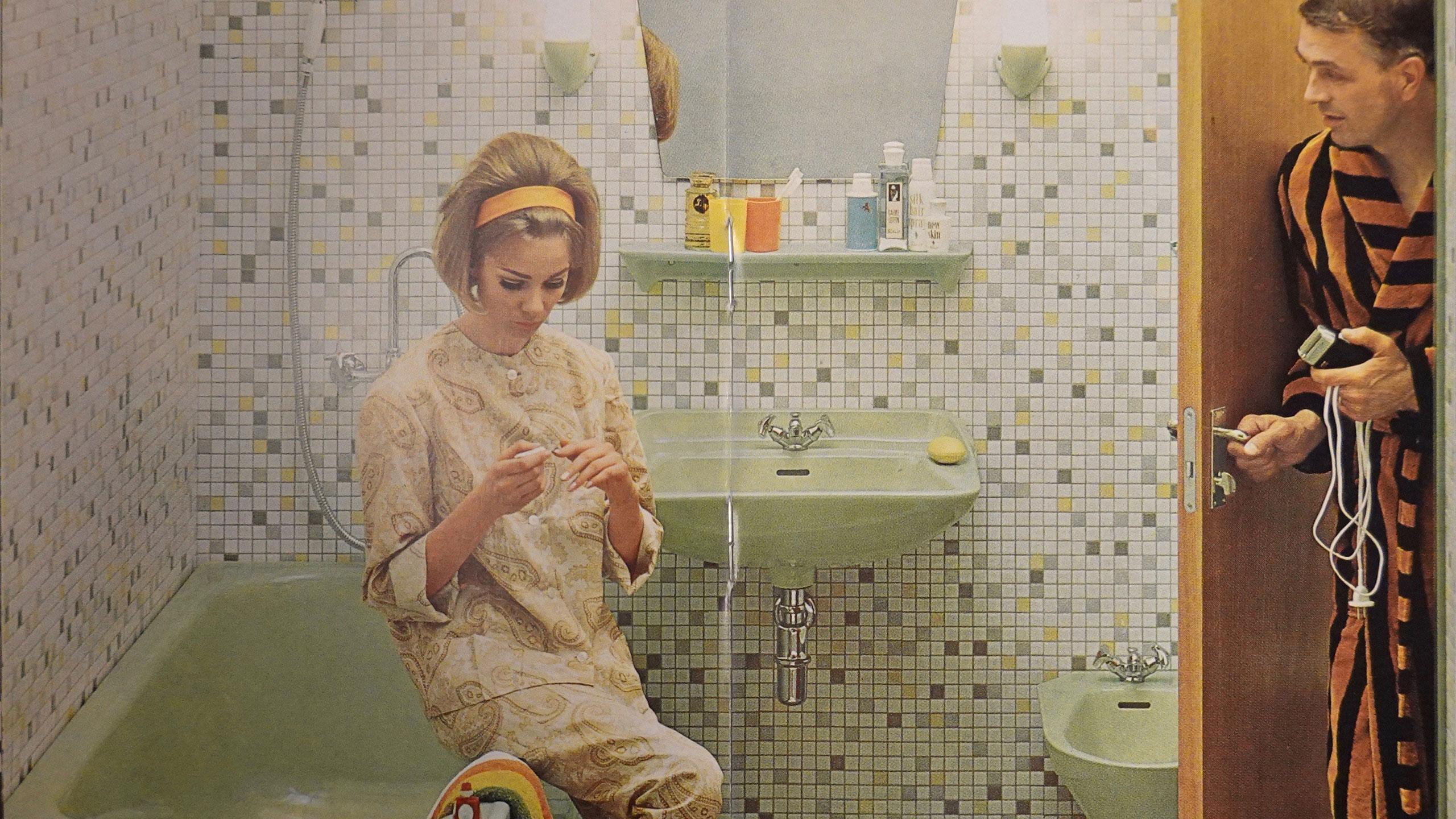 Tidstypiskt badrum 1966