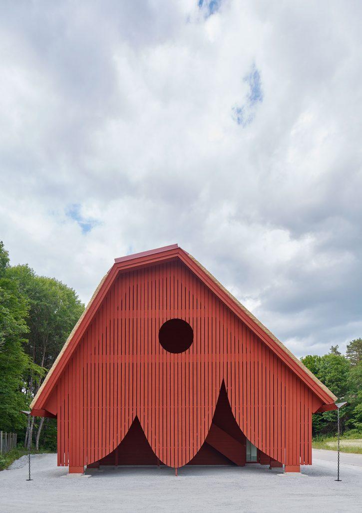 Entrébyggnad i Eriksbergs viltpark