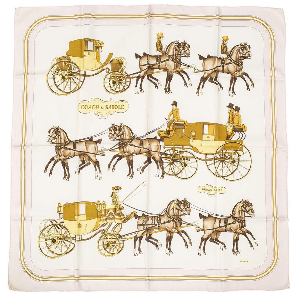 Hermèsscarf med hästar