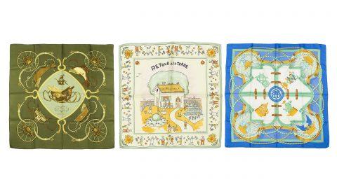 Sidenscarfar från Hermès