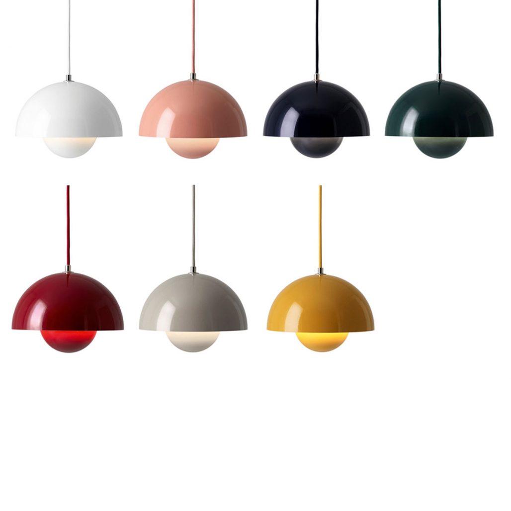 Taklampan Flowerpot av Verner Panton i flera färger