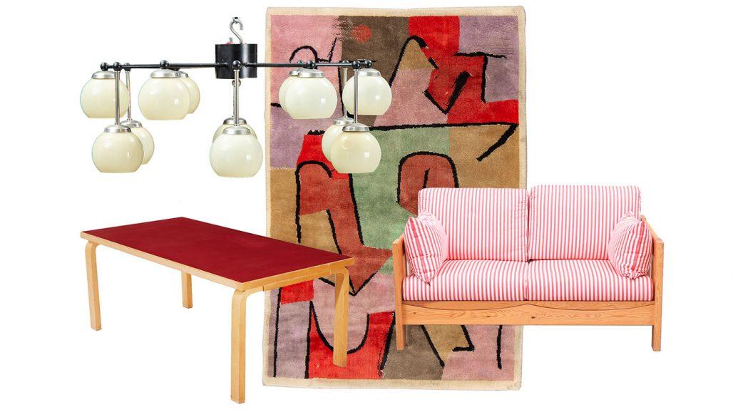 Auktionsfynd – soffbord av Alvar Aalto, matta och furusoffa