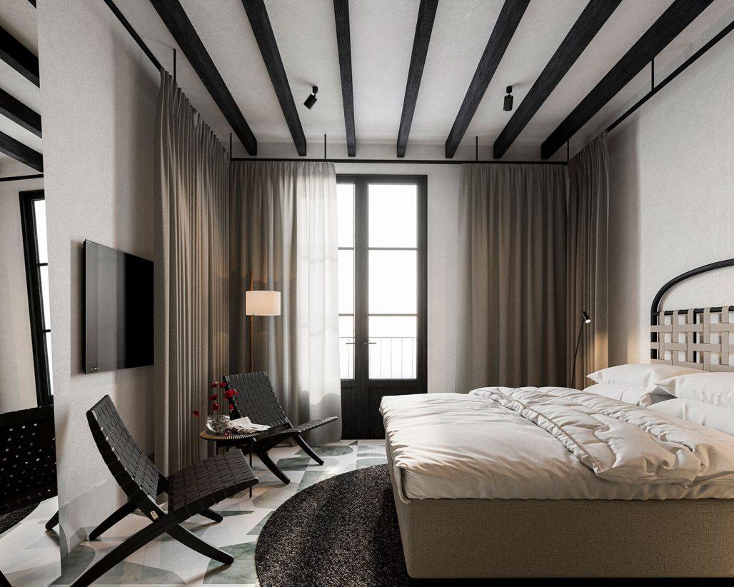 Hotellrum på nya boutiquehotellet Concepcio by Nobis