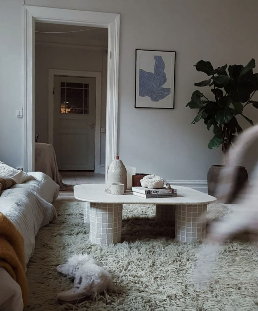 Vardagsrum hemma hos Josefina Feurst