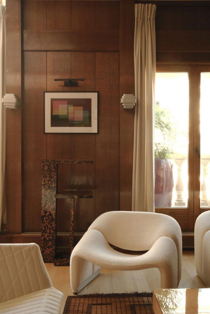 Inredning i parisisk våning inredd av designstudion Hauvette Madani