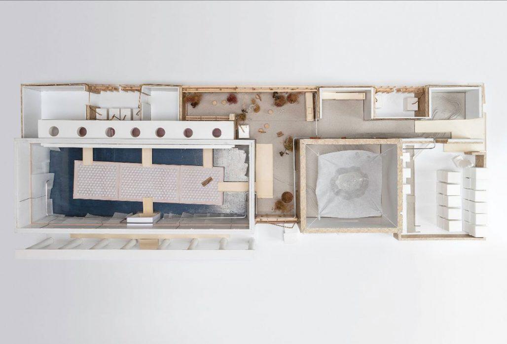 Modell från Danska paviljongen på arkitekturbiennalen i Venedig 2021