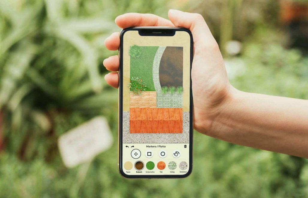 I appen Gardenr kan du planera dina rabatter