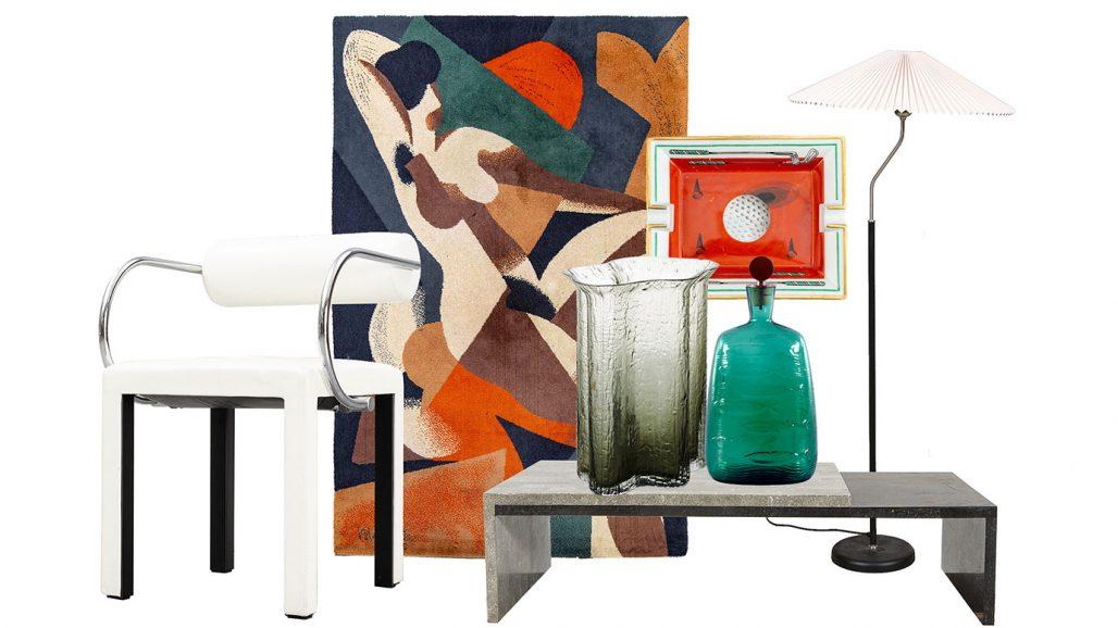 Auktionsfynd – matta av Rene Magritte, soffbord, askfat från Hermès