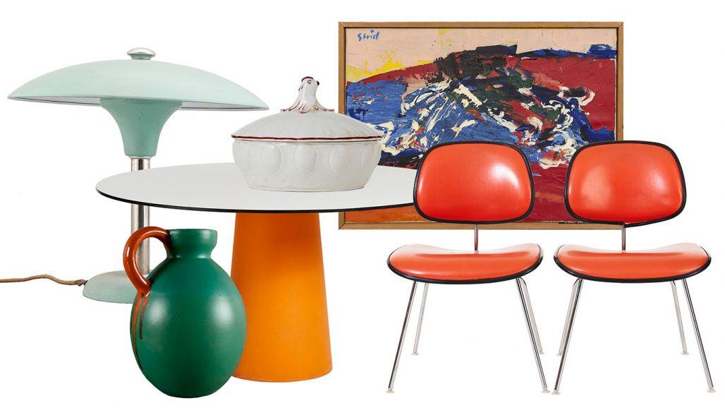 Auktionsfynd till färgstark matplats – matbord och stolar av Charles och Ray Eames