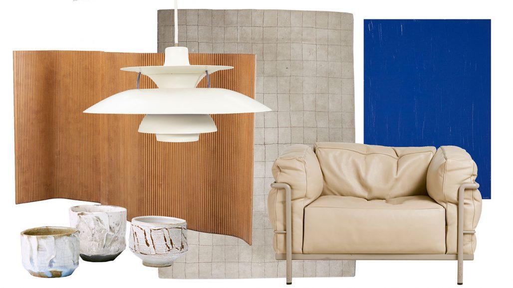 Auktionsfynd – taklampa av Poul Henningsen, konst av Jan Håfström och fåtölj av Le Corbusier