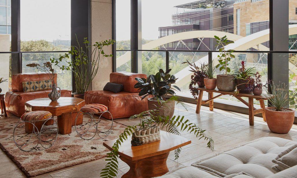 Modern och bohemisk ranch-känsla på Austin Proper Hotel