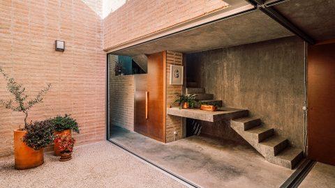 Brutalistisk villa i Madrid