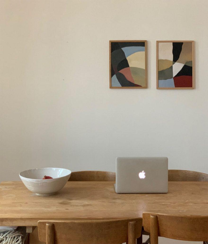 Temporärt hemmakontor och konst av Fredrika Linde