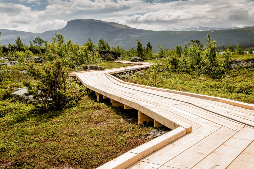 Naturum i naturområdet Laponia i Lappland