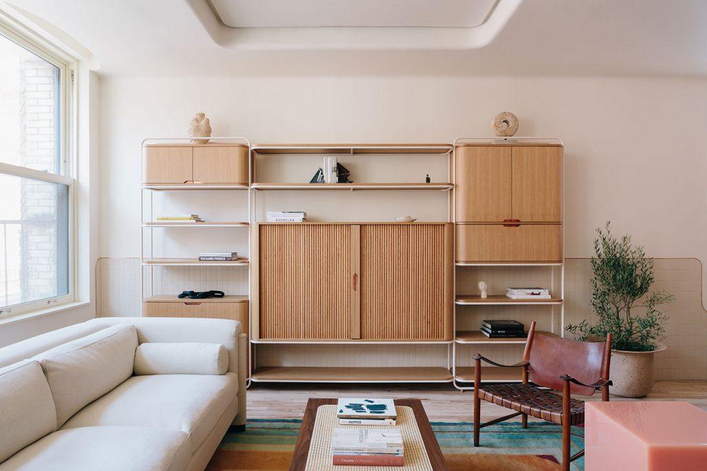 Vardagsrum I New York-lägenhet