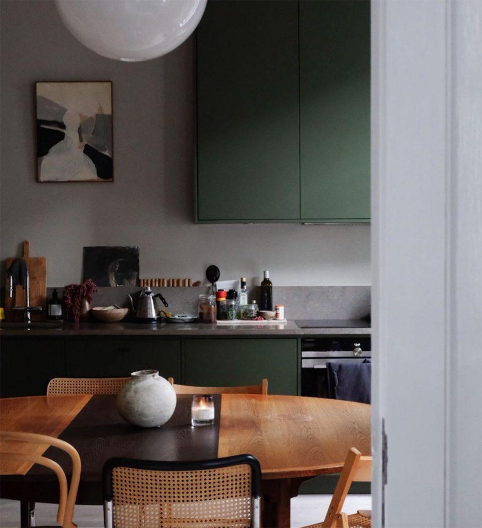 Kök och matplats hemma hos Rachel