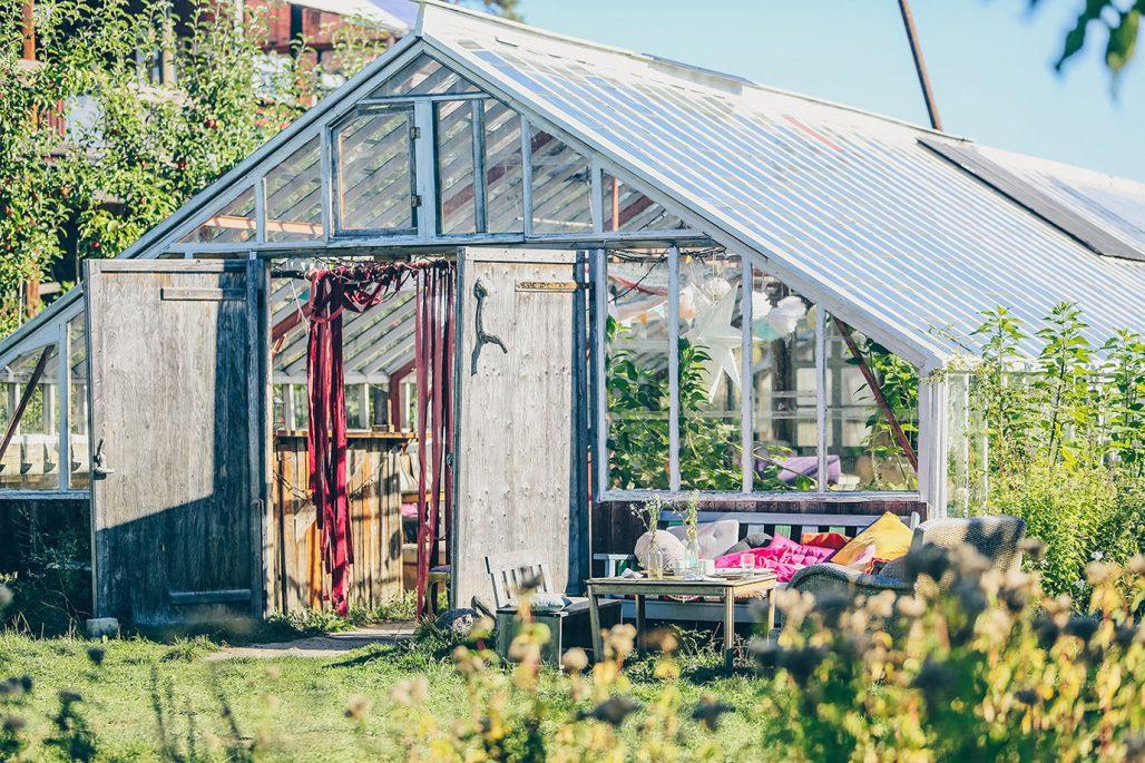 Växthus i Rosenhills trädgård
