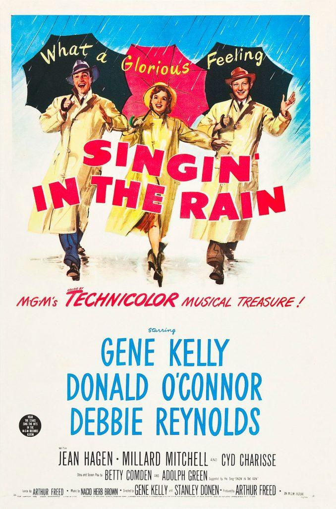Filmaffisch för musikalen Singin' in the rain