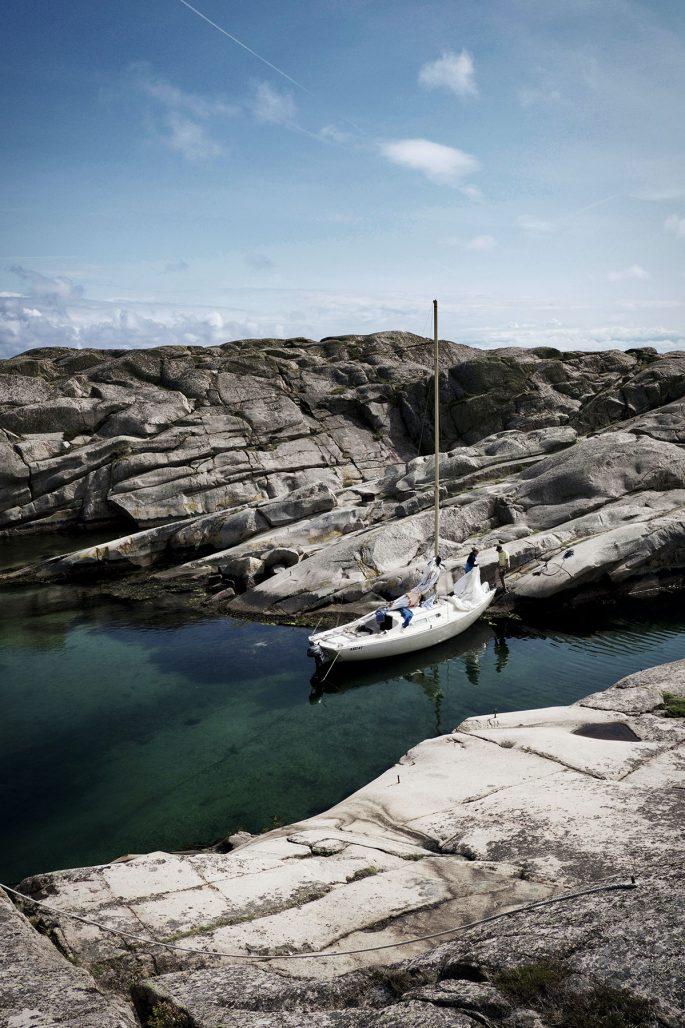 Klippor och segling i Smögen