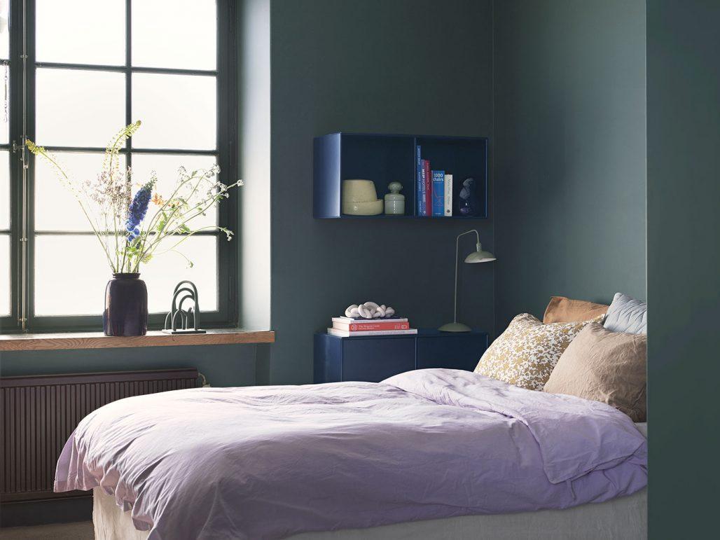 Kalla nyanser i sovrummet, kulör 006 Havsdjup från Alcro
