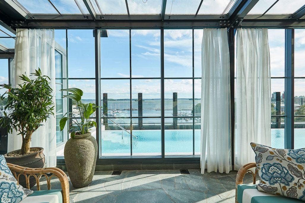 Pool och spa på Steam Hotel