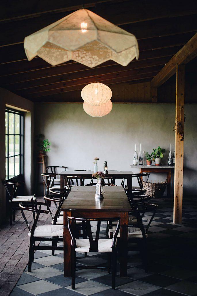 Restaurangen på Hotel Stelor på Gotland