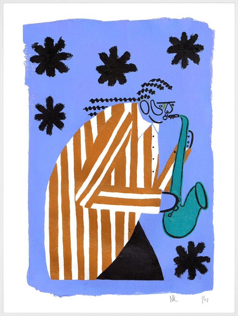 "Konstverket ""A Blues Night"" av Joy Yamusangie"