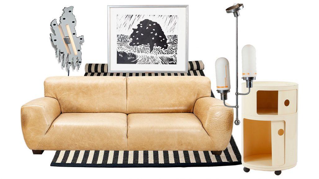 Auktionsfynd – soffa, ullmatta och taklampa från 1930-tal