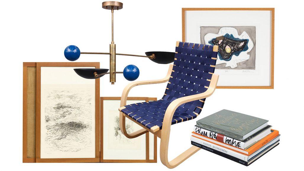 Auktionsfynd – ramar, fåtölj och fotoböcker