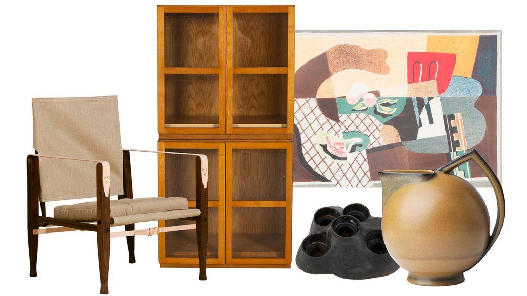 Auktionsfynd – Kaare Klints Safari-fåtölj, vitrinskåp och kanna