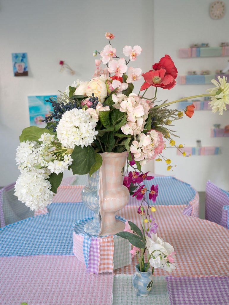 Blommor på Dumt Café