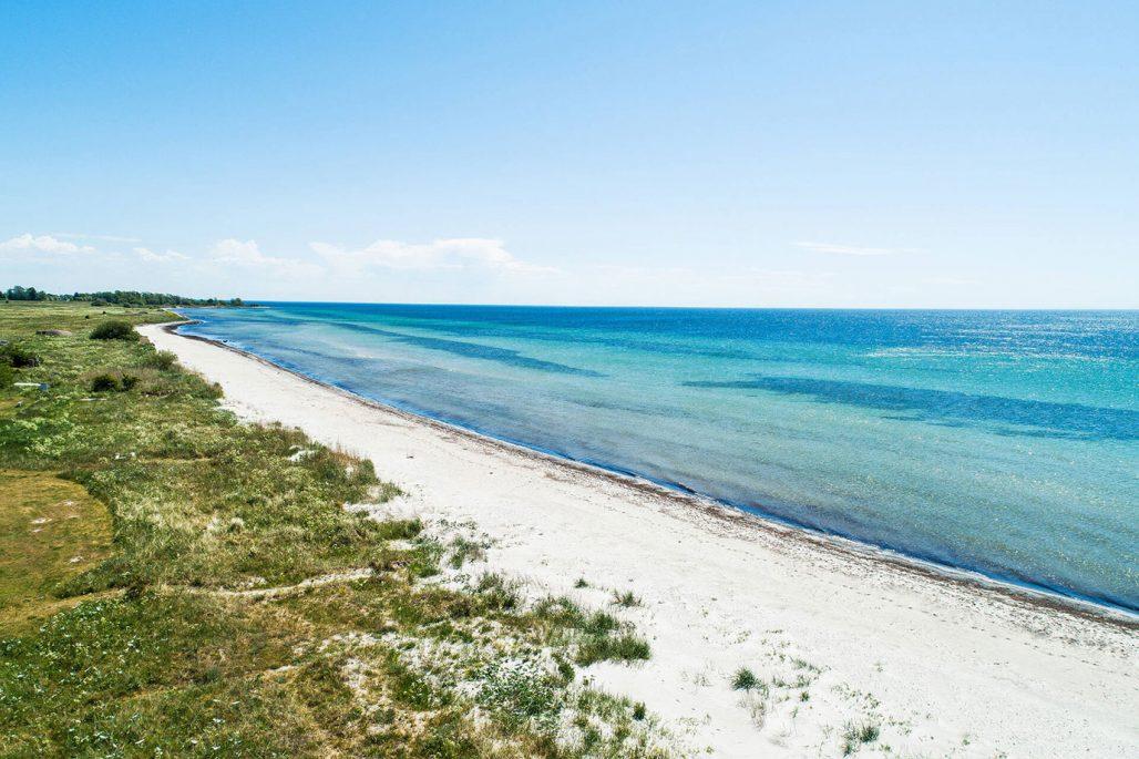 Strand i Böste i Skåne