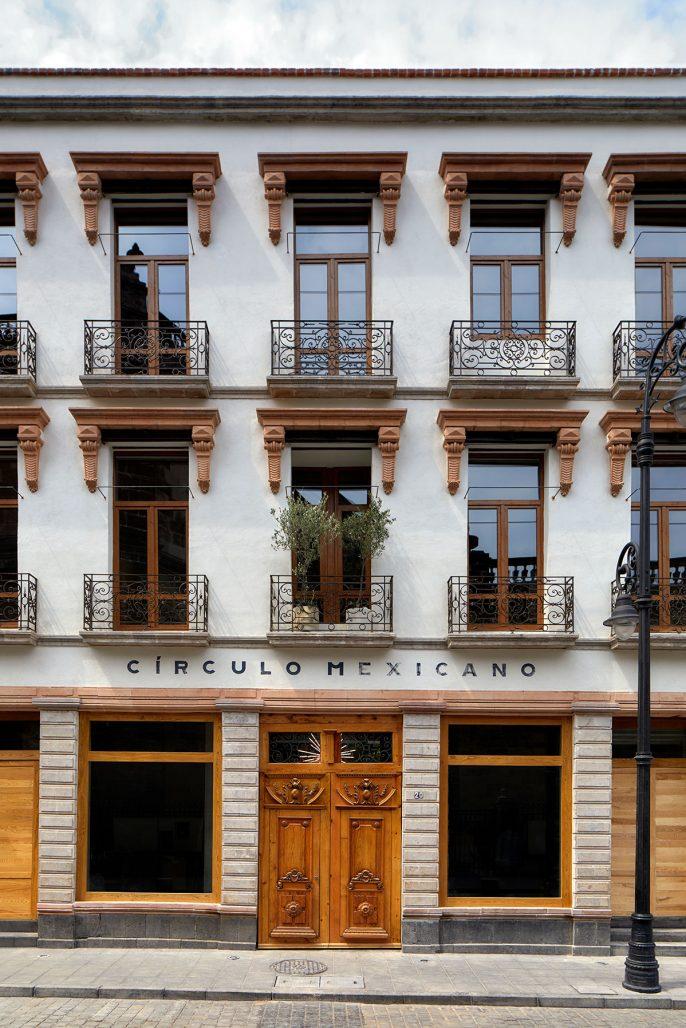 Exteriören av hotellet Circulo Mexicano i Mexico City