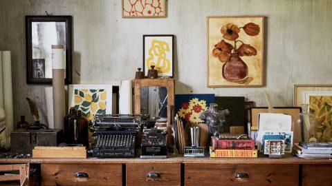 Konst ur kollektionen Art Bouquet från Wall of Art är en formfavorit