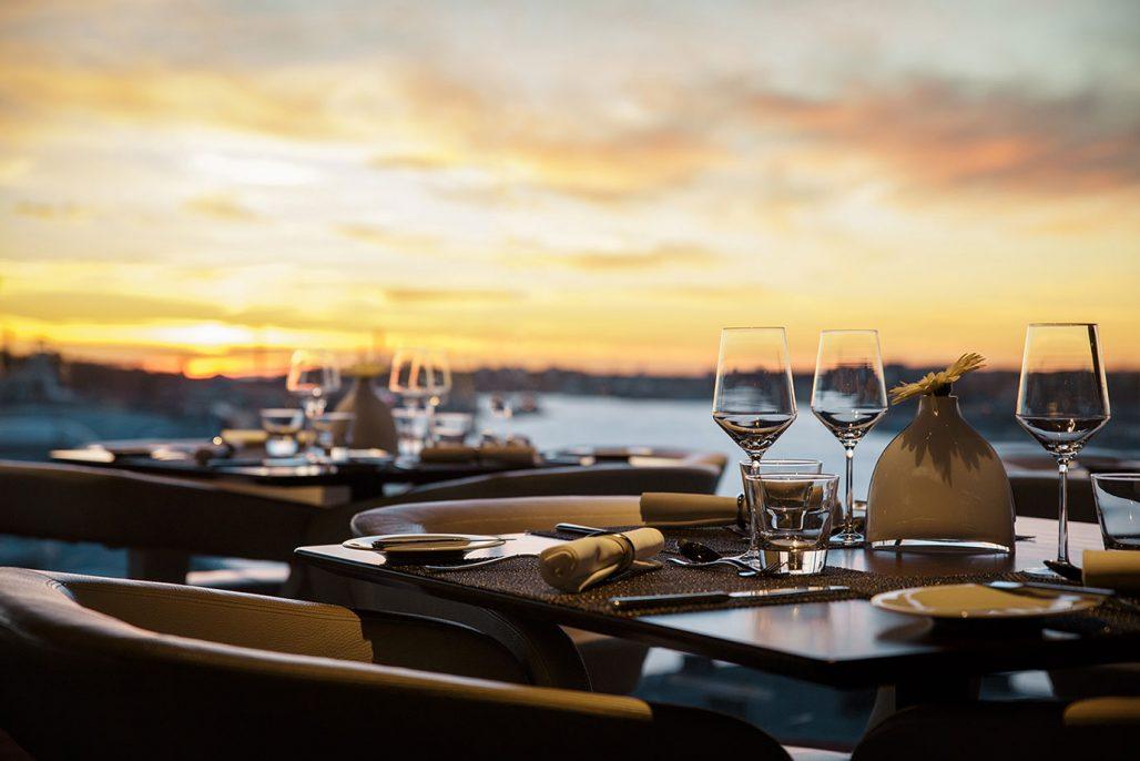 Utsikt över Göteborg från restaurangen på Hotel Riverton