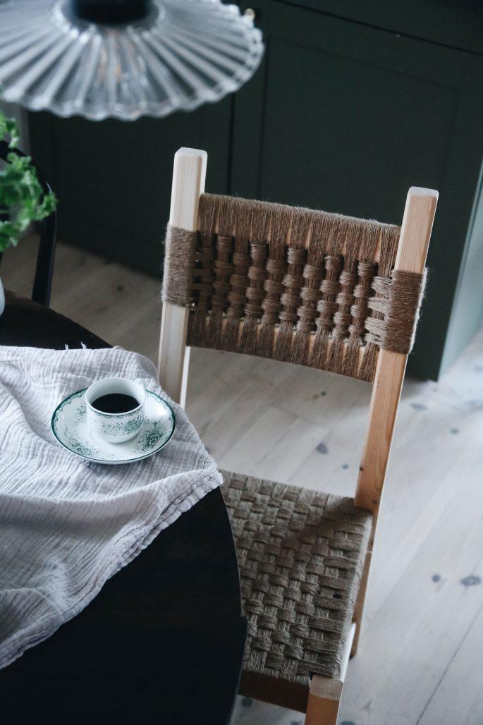 Ett av Monica Karlsteins hacks med stol från Ikea