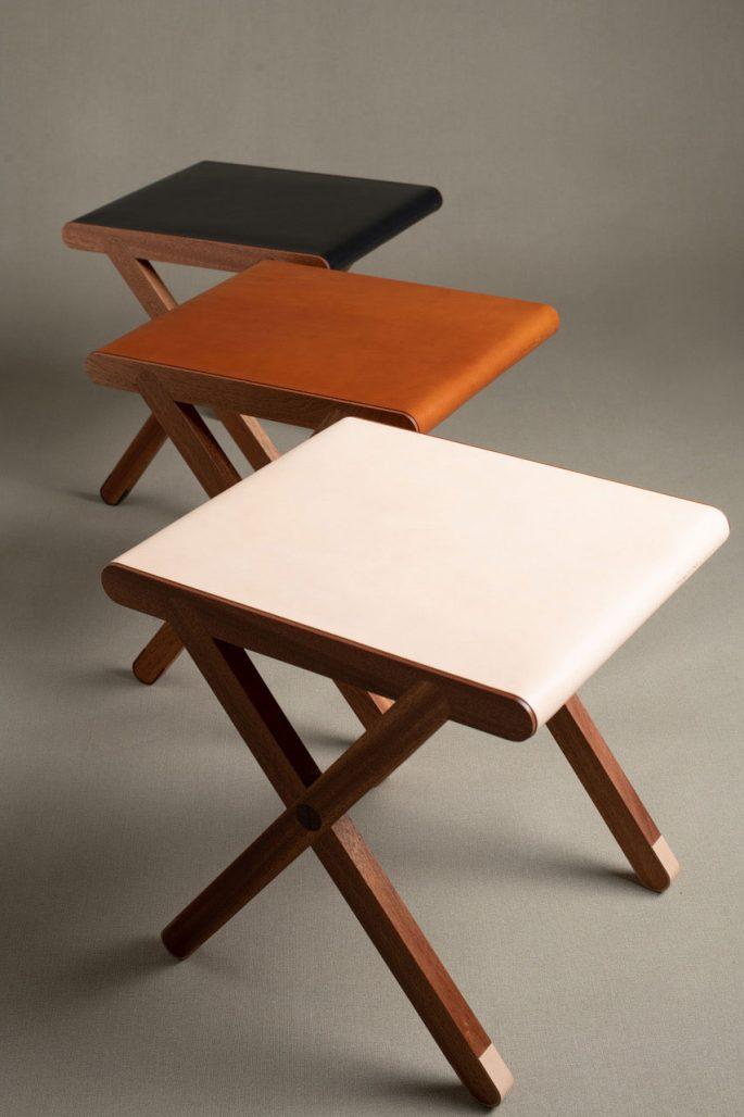 Pall i läder designad av Thomas Sandell för Palmgrens