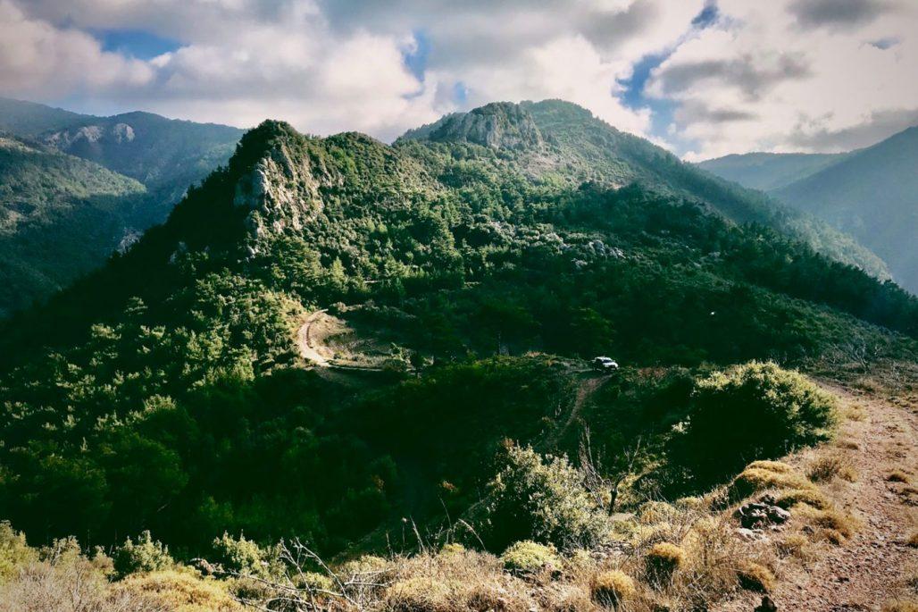 Bergen på Samos i Grekland