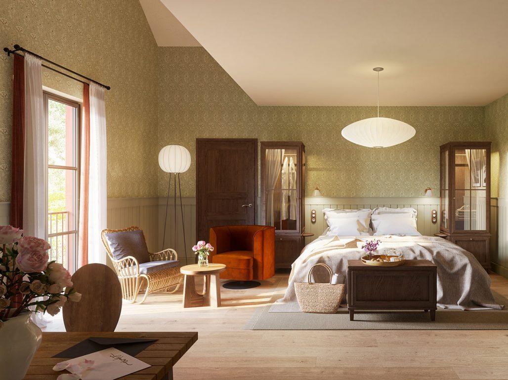 Vackra hotellrum på Smådalarö Gård med anor från 1810