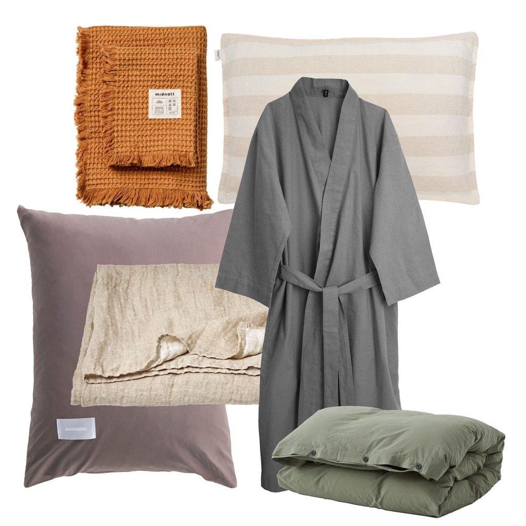 Sommartextilier – örngott, våfflade handdukar och kimono