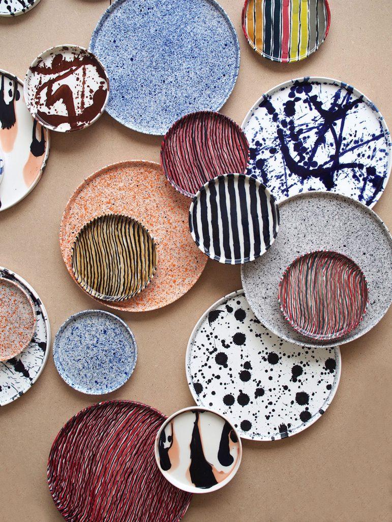 Tallrikar i keramik av Studio Oyama