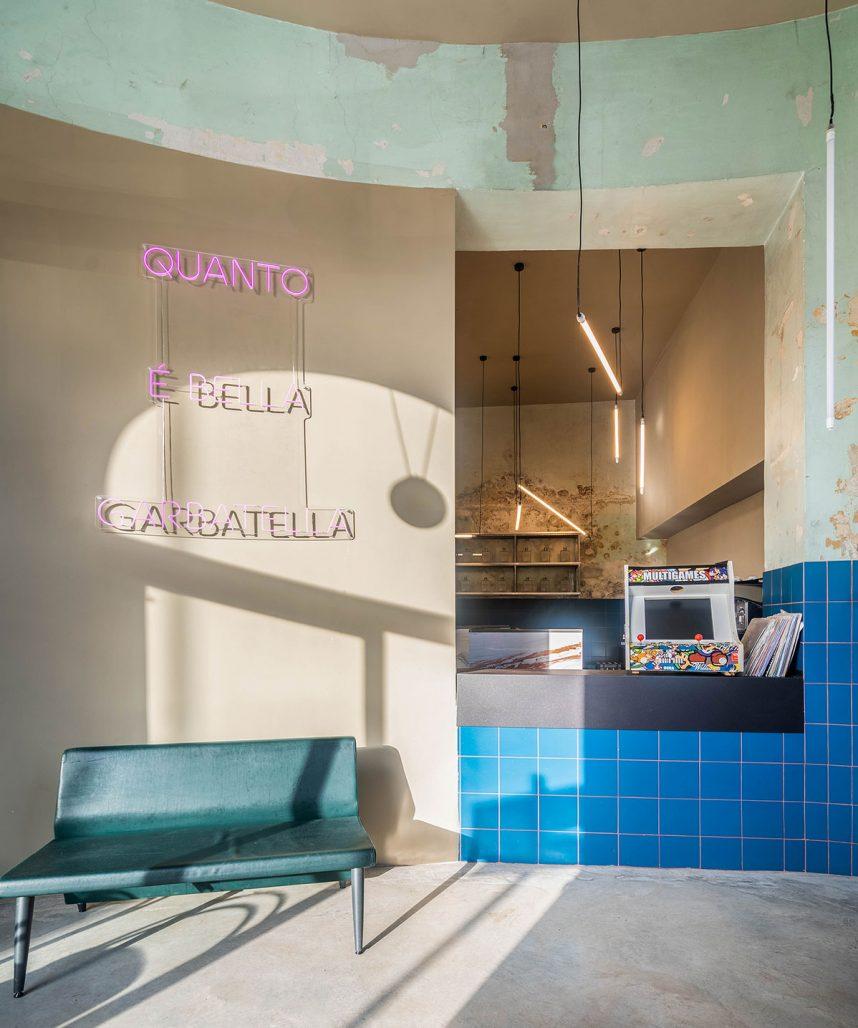 Interiör på restaurangen Tre de Tutto