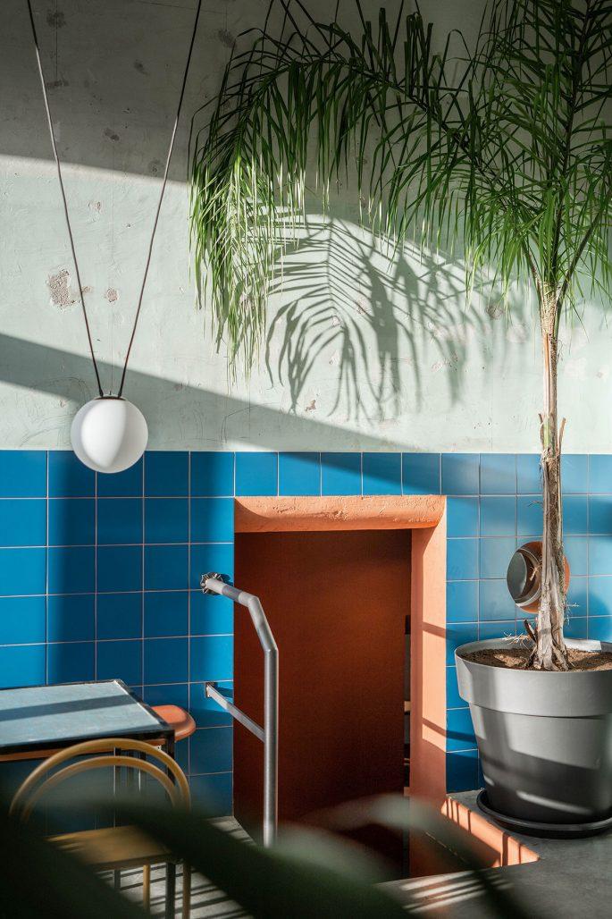 Spännande färgkombinationer på restaurang Tre de Tutto